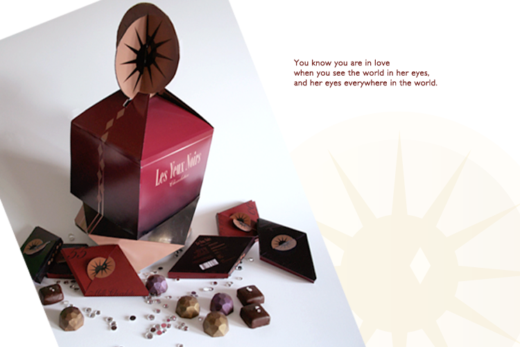 Les Yeux Chocolate Package Design
